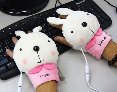 I want one! USB bunny hand warmer