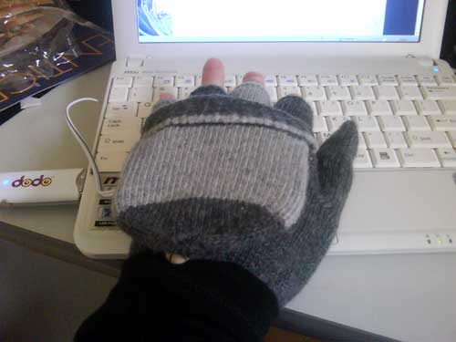 My USB glove / hand warmer